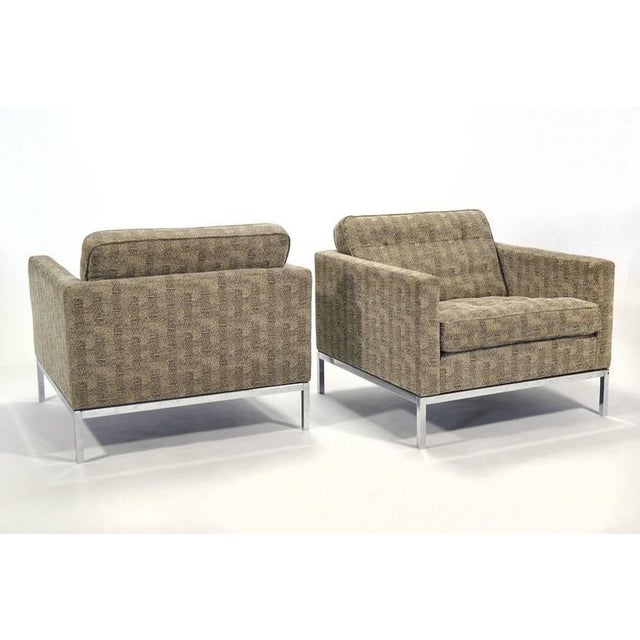 Florence Knoll Tuxedo Lounge Chair, Pair - Image 8 of 8