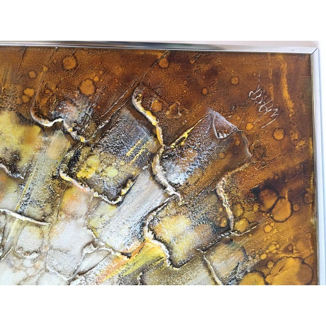 Mid-Century Abstract Modern Painting, Signed - Image 7 of 9