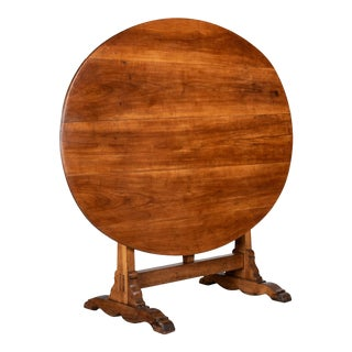 French Oval Wine Tasting or Tilt-Top Table For Sale