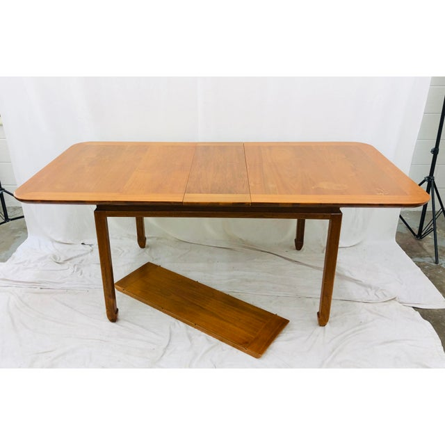 Asian Vintage Mid Century Modern Dining Table For Sale - Image 3 of 12