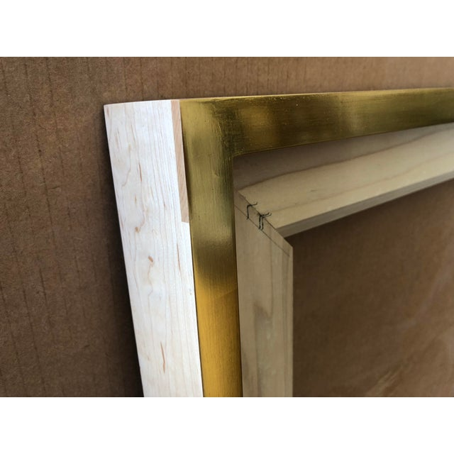 French 22kt Gold Maple Frame For Sale - Image 3 of 4