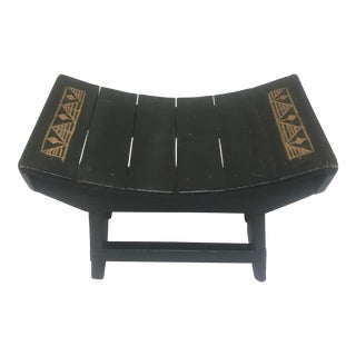Black Painted Saddle Seat Bench