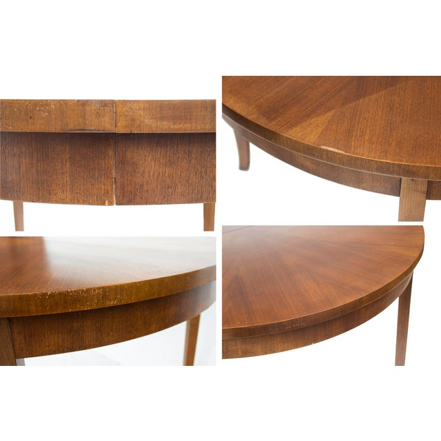 Round Dining Table by t.h. Robsjohn-Gibbings for Widdicomb, Model 4322 For Sale - Image 11 of 12