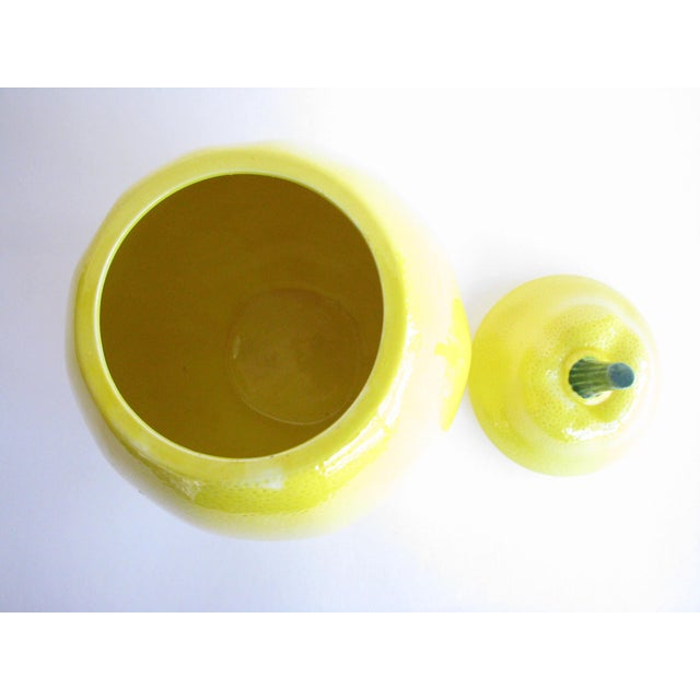 Mid 20th Century Vintage Lemon Shaped Ceramic Cookie Jar or Canister For Sale - Image 5 of 12
