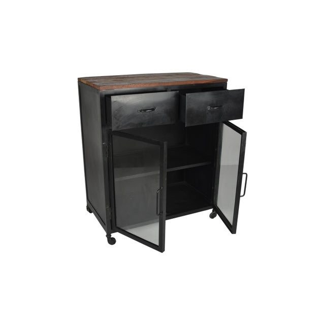 Contemporary Adela Two Door Glass Cabinet For Sale - Image 3 of 4