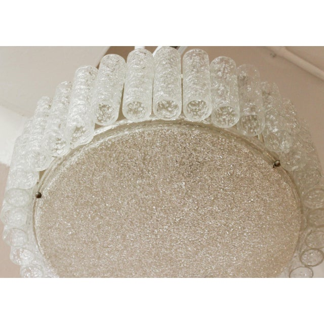 Glass Kalmar Mid-Century Modern Frosted Glass Circular Ceiling Light Pendant For Sale - Image 7 of 9