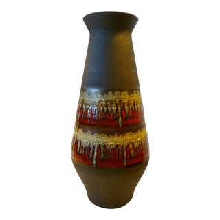 Mid-Century Modern German Tall Pottery Vase by Jasba, 1959 For Sale