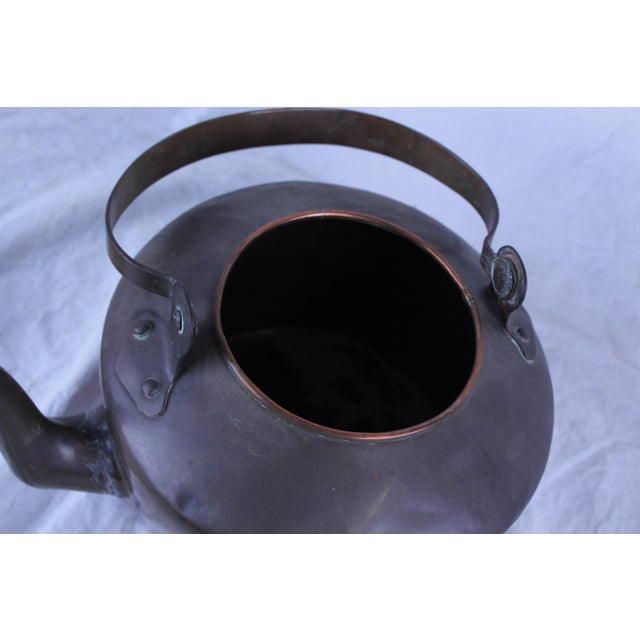 Rustic 20th Century Rustic Copper Tea Kettle For Sale - Image 3 of 5
