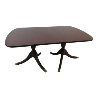 Henkel Harris Mahogany Dining Table With 3 Leaves For Sale
