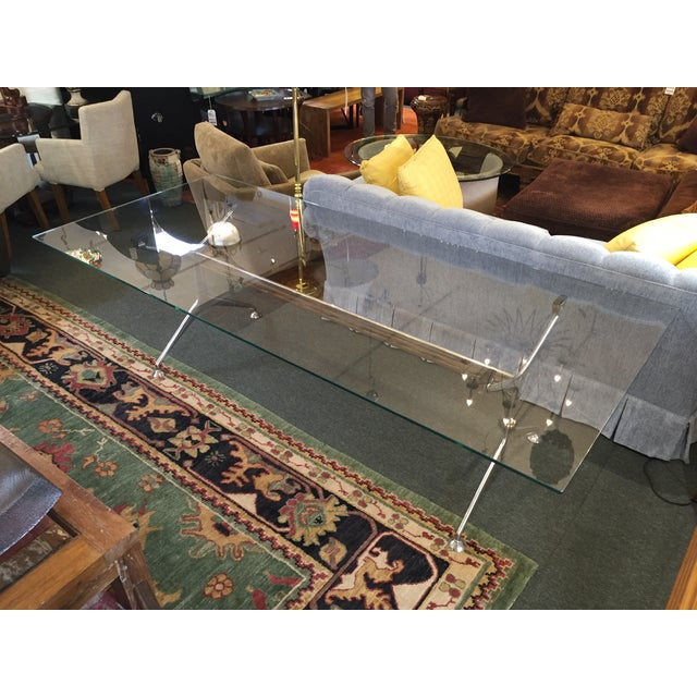 Chrome & Glass Cassina Table - Image 9 of 11
