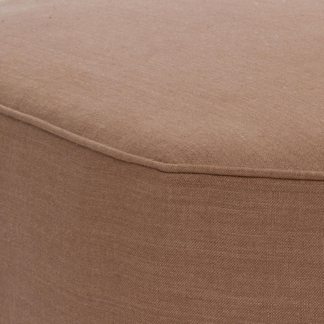 Not Yet Made - Made To Order Casa Cosima Istanbul Cocktail Ottoman in Hazel Linen For Sale - Image 5 of 7