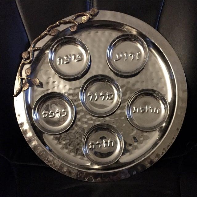 Godinger Golden Leaf Stainless Steel Seder Plate - Image 4 of 7