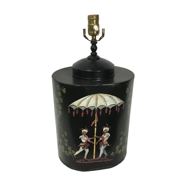 Oval English Style Tea Caddy Lamp - Image 2 of 9