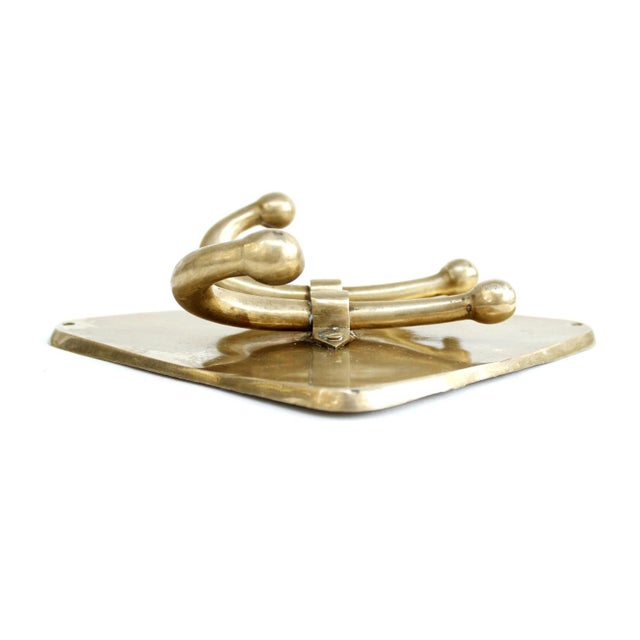 Vintage Mid-Century Brass Double Wall Towel Hook - Image 5 of 6