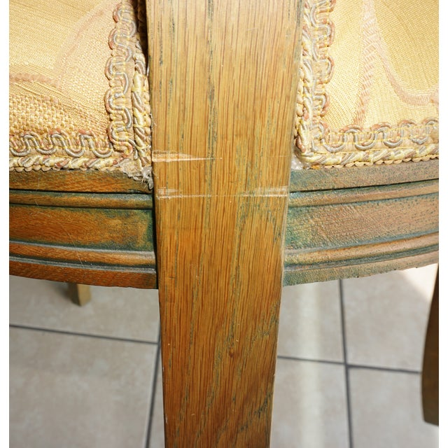 Hand-Carved European Accent Chairs - a Pair - Image 9 of 9
