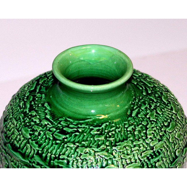 Awaji Pottery Meiping Vase With Textured Surface For Sale In New York - Image 6 of 9