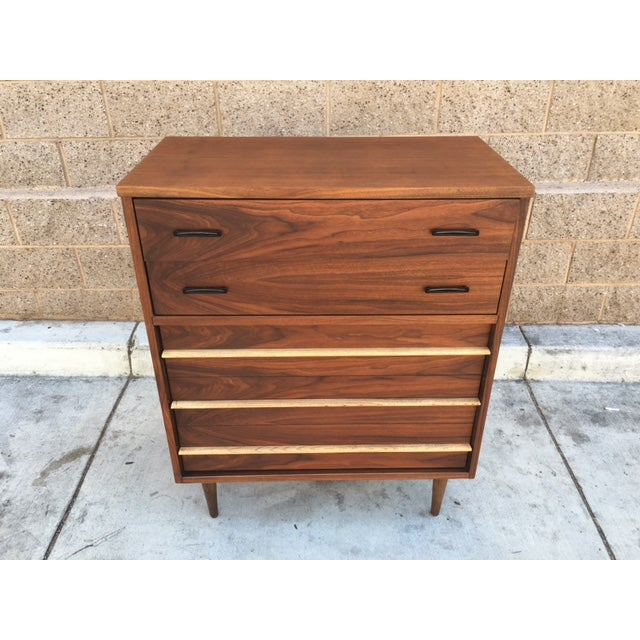 Mid-Century Walnut Highboy Dresser - Image 2 of 3