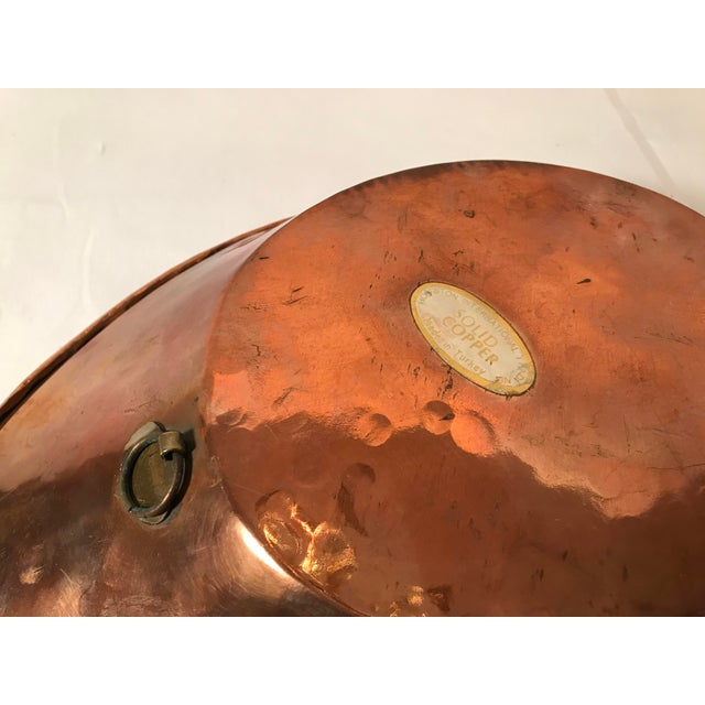 Gold Vintage Leaf Shaped Copper and Brass Dish For Sale - Image 8 of 9