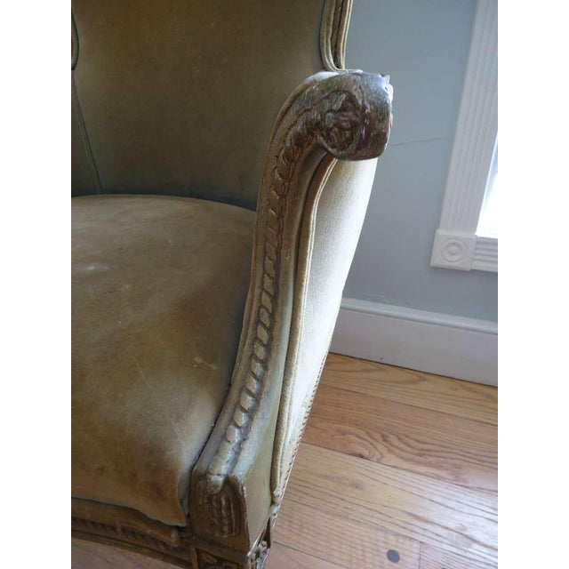 Textile French Art Deco Velvet Armchairs - a Pair For Sale - Image 7 of 10