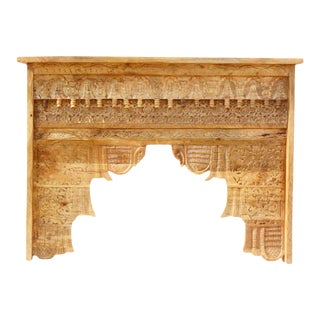 Indian Intricately Carved Accent Hall Table For Sale