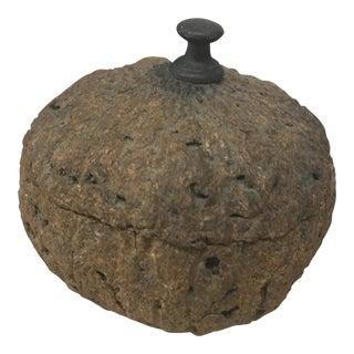 Box - Petite Carved Nut Box