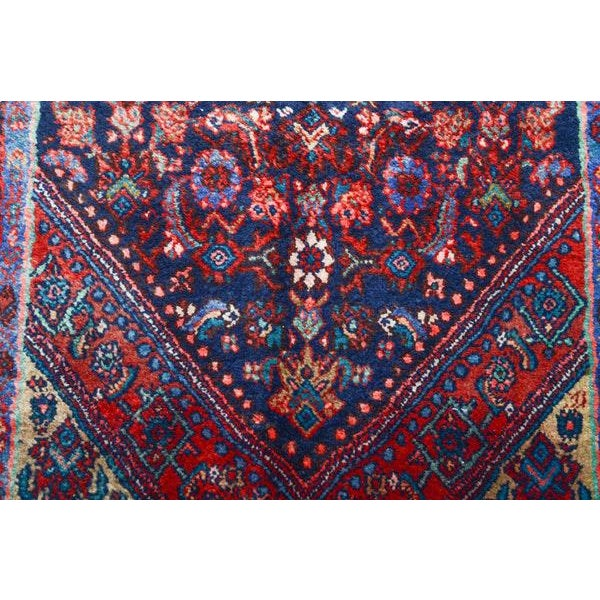 Hand Knotted Persian Mahal Runner - 3′10″ × 10′4″ - Image 8 of 11