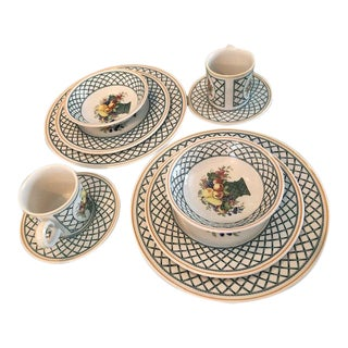 Basket Garden Serving Dishes by Villeroy-Boch - 5 Piece Place Setting For Sale