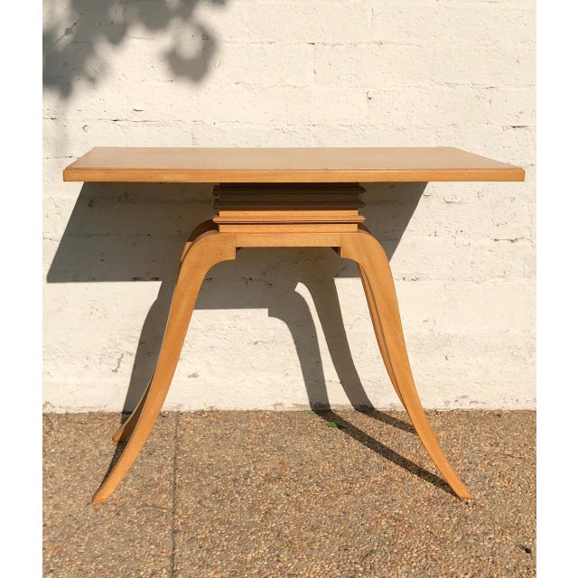 1930s Art Deco Paul Frankl Mahogany Console Table For Sale In Los Angeles - Image 6 of 6