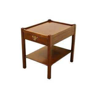 20th Century Traditional James River Plantation Solid Cherry End Table For Sale