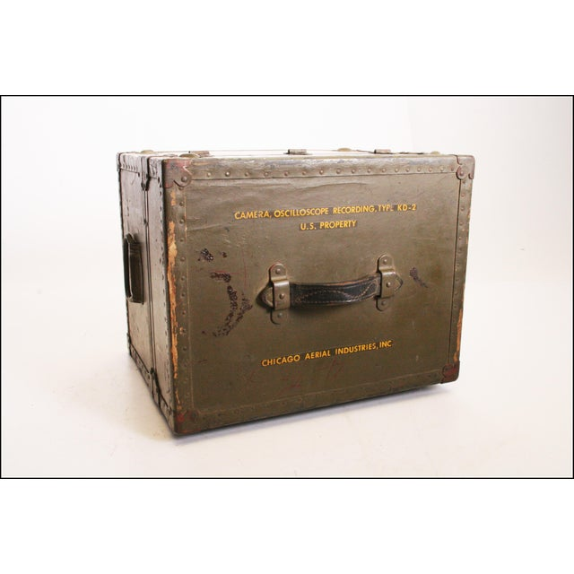 Vintage Industrial Green Military Hard Case - Image 11 of 11