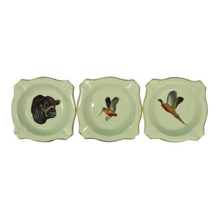 1950s Vintage Frank Vosmansky for Abercrombie & Fitch Ashtrays - Set of 3 For Sale