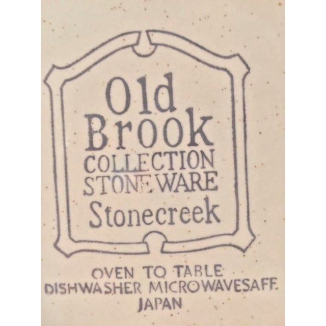 It's That 70's Show Old Brook Collection Stoneware Stonecreek. 3 dinner and 3 bread plates. oven to table microwave and...