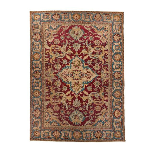 Red Ground Agra Medallion Carpet For Sale - Image 4 of 4