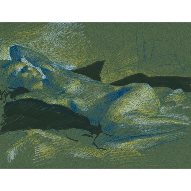"""""""Figure 6"""" Contemporary Abstract Figurative Mixed-Media Drawing by David Orrin Smith For Sale"""