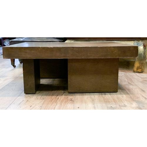 Mid 20th Century Mid Century Geometric Wood Coffee Table For Sale - Image 5 of 8