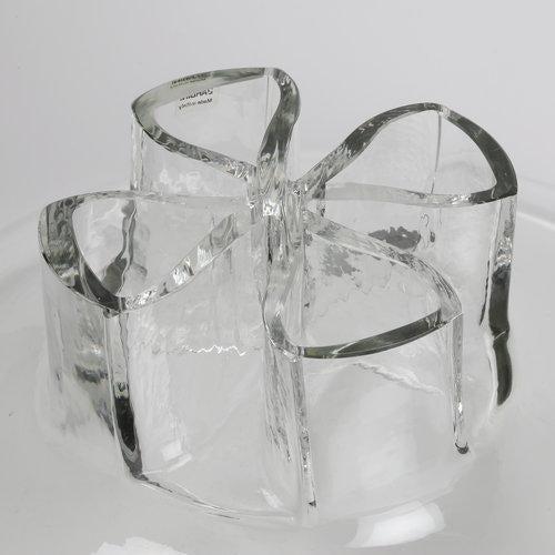 """Barbini BARBINI ITALIAN GLASS """"QUATTO FORI"""" VASE, CIRCA 1970S For Sale - Image 4 of 7"""
