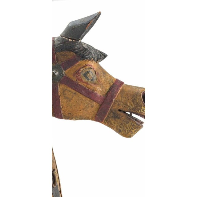 19th Century 19th Century Charles Dare American Hand Painted & Carved Carousel Horse Figure For Sale - Image 5 of 11