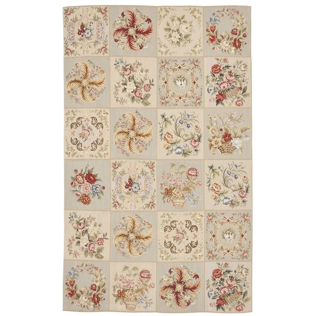 Chinese Floral Aubusson Rug - 5'x 8' - Image 1 of 9