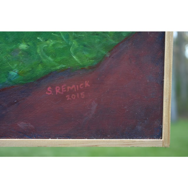 Green Vermont Swimming Hole Contemporary Painting by Stephen Remick For Sale - Image 8 of 12