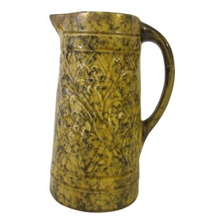 19th C. Spongeware Pitcher