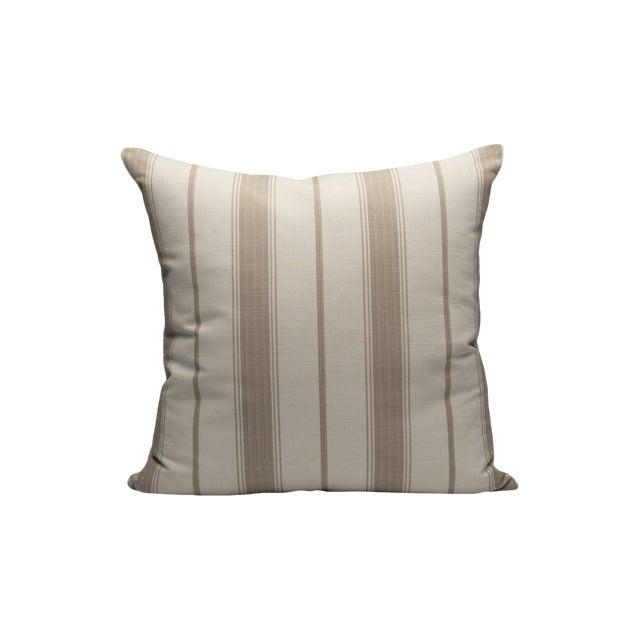 Sconset Stripe Pillow, Linen For Sale