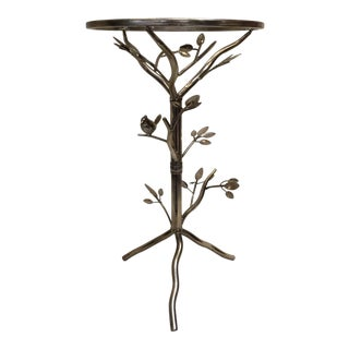 Gold Birdie on a Branch Table For Sale