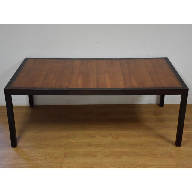 Edward Wormley for Dunbar Mahogany and Walnut Dining Table For Sale - Image 11 of 11