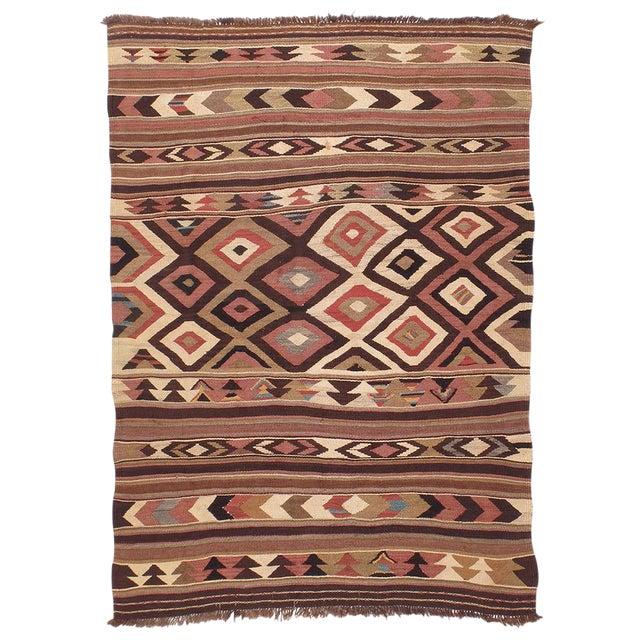 Antique Bowlan Kilim For Sale