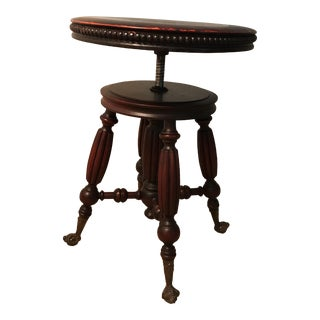Late 19th Century Victorian Piano Stool