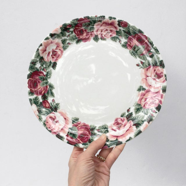 1980s Vintage Rose Garden Dinner Plates by Block Spal - Set of 4 For Sale - Image 5 of 10