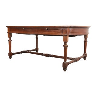 19th Century French Oak Sewing Table For Sale