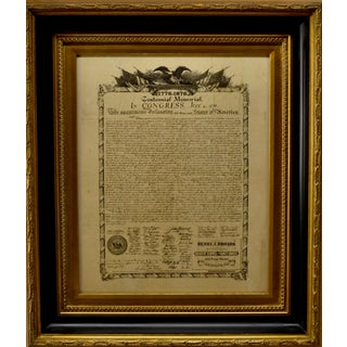 Antique 1876 Printing Declaration of Independence For Sale
