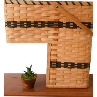 20th Century Country Amish Stair Step Basket For Sale