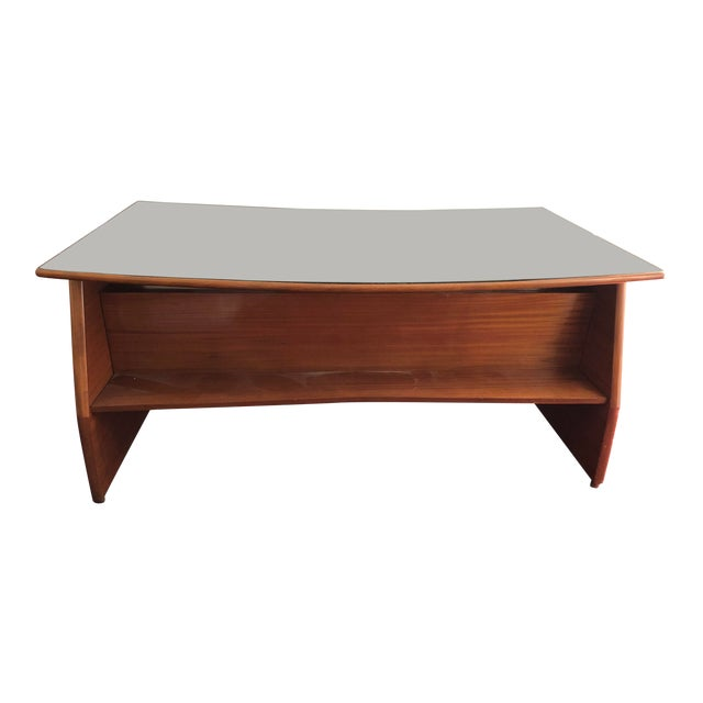 Mid Century Italian Made Desk Inspired by Paolo Buffa For Sale